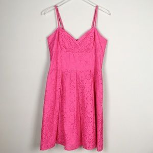{Lilly Puliter} Pink eyelet summer dress
